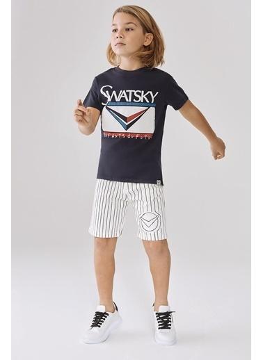 Swatsky Erkek Çocuk Lacivert T-Shirt Lacivert